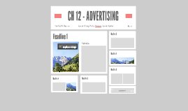 CH 12 - ADVERTIZING