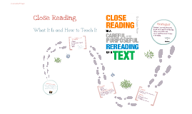 Copy of Close Reading of Texts