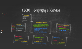 CGC1P0 - Issues in Canadian Geography