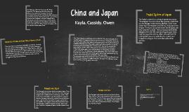 China and Japan