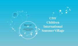 CISV Children International Summer Village