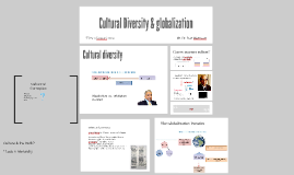 Cultural diversity and globalization