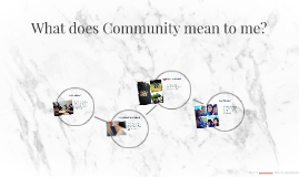 What does Community mean to me?