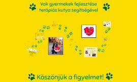 Vak gyermekek fejlesztése terápiás kutya segítségével