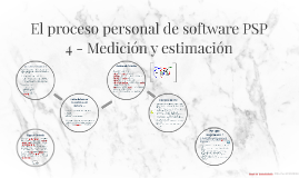 El proceso personal de software PSP - 4 Medición y estimación