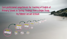 Core professional competencies for teaching of English at Pr