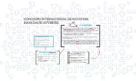 CONCOURS DE NATATION DANS EAUX OUVERTES