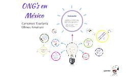ONG's en México