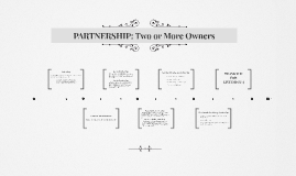 PARTNERSHIP: Two or More Owners