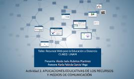 APLICACIONES EDUCATIVAS DE LOS RECURSOS Y MEDIOS DE COMUNICA