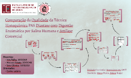 Comparação da Qualidade da Técnica Histoquímica PAS Diastase