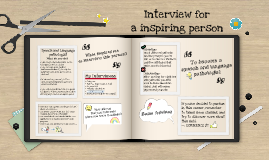 Interview a inspiring person