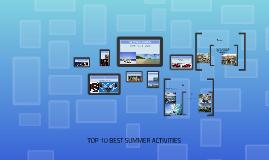 Top 10 Summer Activity