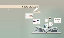 E-bøker eller papir
