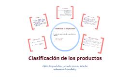 Copy of Clasificación de los productos