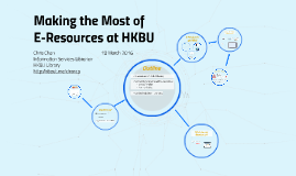Making the most of E-Resources at HKBU