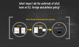 What impact did the outbreak of WW2 have on U.S. foreign and