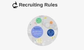 Recruiting Rules