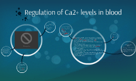 Ca2+ level regulation in blood
