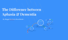 The Difference between Aphasia and Dementia