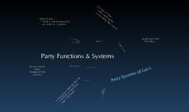 Party Functions & Systems