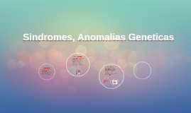 Sindromes, Anomalias Geneticas