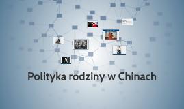 Polityka rodziny w Chinach