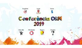 Conferência ORM 2019