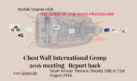 Chest Wall International Group meeting 2016