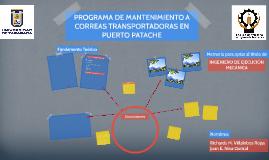 PROGRAMA DE MANTENIMIENTO A CORREAS TRANSPORTADORAS EN PUERT
