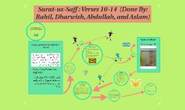 Surat-us-Saff : Verses 10-14