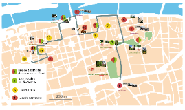 Parcours touristique virtuel a Tours