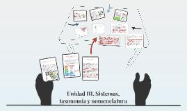 Sistemas, taxonomía y nomenclatura