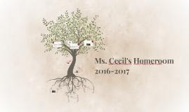 Ms. Cecil's Homeroom