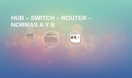 HUB – SWITCH – ROUTER – NORMAS A Y B