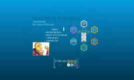 ANALYSIS OF REASONING