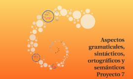 Aspectos gramaticales, sintácticos, ortográficos y semántico
