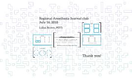 Regional Anesthesia JC July 2018