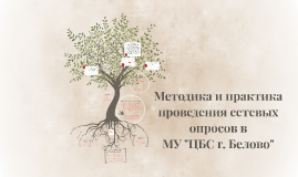 """Методика и практика проведения сетевых опросов в МУ """"ЦБС г."""