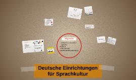 Deutsche Einrichtungen für Sprachkultur