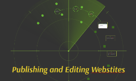 Publishing and Editing Webstites