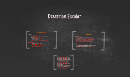 Desercision Escolar