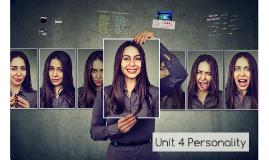 Unit 4 Personality