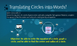 Translating Circles into Words!
