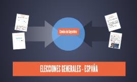 ELECCIONES GENERALES - ESPAÑA