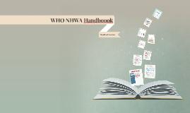 WHO NHWA Handboook