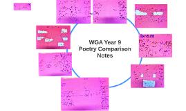 WGA Y9 Poetry Comparison