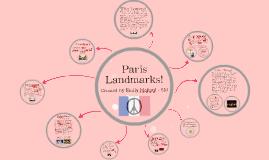 Paris Landmarks!