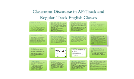 Classroom Discourse in AP-Track and Regular-Track English Classes