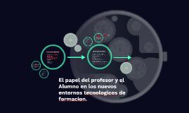 El papel del profesor y el Alumno en los nuevos entornos tec